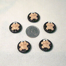 5 hedgehog toppers card making craft handmade flatbacks cabochon birthday party