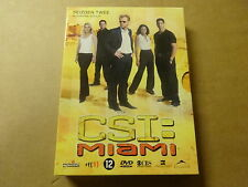 3-DISC DVD BOX / CSI: MIAMI - SEIZOEN 2 - AFLEVERINGEN 2.13 - 2.24 ( DEEL 2 )