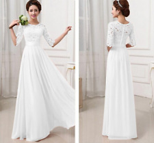 Women's Long Lace Dress Evening Formal Party Prom Wedding Bridesmaid Ball Gown