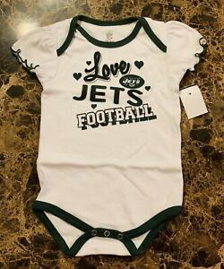 Brand New New York Jets Girls Creeper Bodysuit Size 18M