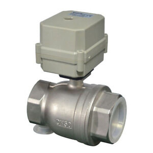 DN50 Two Way 2 Inch DC12V,DC24V SS304 Motorized Ball Valve,With instructions
