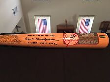 Reggie Jackson Multi Signed Auto Cooperstown Bat JSA COA New York Yankees A's