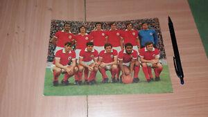 S.L. BENFICA FOOTBALL SOCCER VINTAGE POSTCARD 1970/71