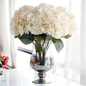 5 Head Artificial Silk Fake Large Rose Flower Hydrangea Wedding Venue Decors#SO