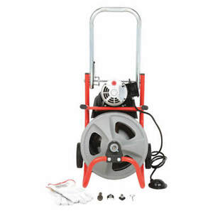 RIDGID 26998 Drain Cleaning Machine,1/2Inx75ft Cable
