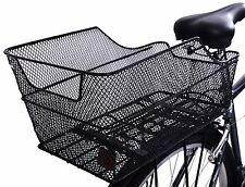 Ammaco Large Rear Steel Mesh Bike Rear Luggage Carrier Mounted Basket Black