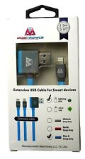 iPhone Lightning USB Extension Cable Fast Charge/Sync cord for Apple -3.3ft Blue