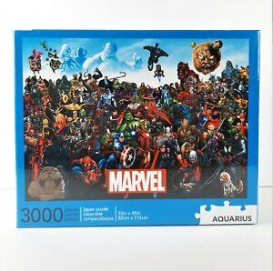 Marvel Universe Cast Jigsaw Puzzle 3000 Pieces Aquarius Spider-Man Iron Man Hulk