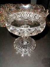 "EAPG Co-operative Flint ""ROYAL"" aka ""SUNKEN BULLSEYE"" Pressed Glass Compote 1894"