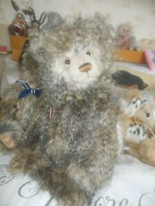 charlie bear scooby stands or sits down had feather like plush tags on