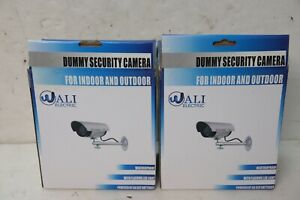 PAIR WALI DUMMY FAKE LED  INDOOR OUTDOOR SECURITY CAMERAS
