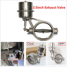 Car 2.5inch Exhaust Control Valve Vacuum Actuator Open Style Stainless Steel