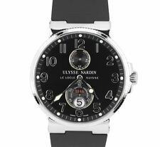 Ulysse Nardin Maxi-Marine Steel Black 41mm Swiss Chronometer Date Watch 263-66