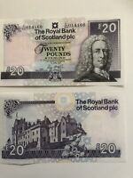 Qty x 1 The Royal Bank Of Scotland plc, £20 Banknote, New Uncirculated