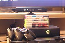 XBOX 360 BUNDLE 320 GB Hard Drive, Kinect, 6 Games, 2 Remotes, Charging Station