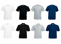 Men's Fruit of the loom Plain Plus Size T-Shirt | Polo Shirt FOTL Tees | Polos