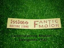 TARGHETTA MASCHERINA ANT.  FANTIC ISSIMO ELECTRIC STARTER ORIGINALE