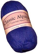 Classic Alpaca 100% Baby Alpaca Yarn #1630 Parrot Purple 50g/110 yds DK Peru