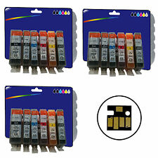 18 Inks for Canon MG6150 MG6250 MG8150 MG8170 MG8250 non-OEM 525/6 GY