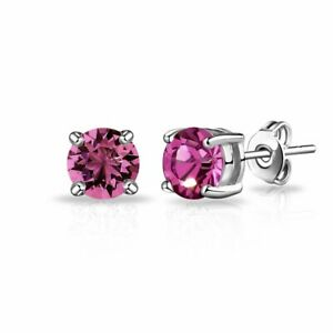 Stud Earrings Diamond Unique Alexandrite 2ct Solitaire Solid 9ct White Gold