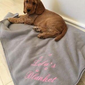 Personalised Dog Blanket, Name + Paws Design, Christmas Gift
