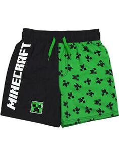 Pantaloncini da bagno Minecraft per ragazzi Costume da bagno verde per gamer ram