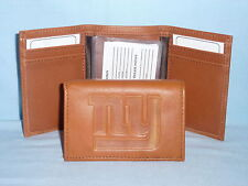 New York NY GIANTS    Leather TriFold Wallet   NEW   brown 2