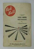 Vintage Marvin Dale Newton Red Ball  HO Gage Catalog No 4 Scale Model Railroads