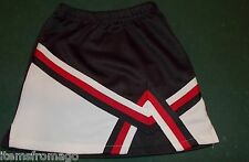 Black, Red, & White Chasse' Cheerleading UNIFORM SKIRT Youth Small 17-21""
