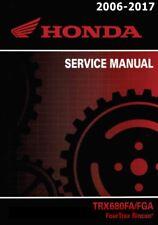 Honda TRX 680 FourTrax Rincon 2006 2007 2008 2009 2010 service manual binder