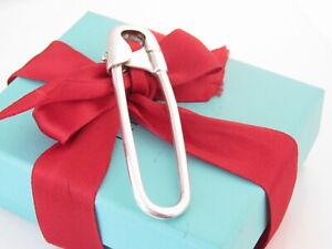 Tiffany & Co Silver Diaper Safety Pin Key Keychain Keyring Key Chain Ring