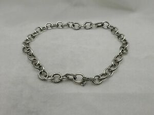"""David Yurman Sterling Silver 12mm Large Oval Link Chain Necklace, length 16"""""""