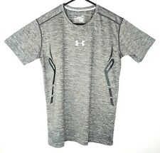 Under Armour Mens Large Grey Compression T-Shirt Short Sleeve Cold Gear Gym L