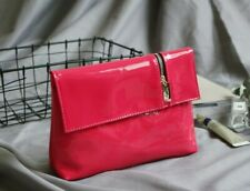 YSL Beauty Fuchsia Faux Patent Leather Makeup Cosmetic Bag / Prestige Pouch, NEW