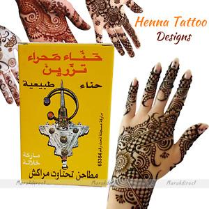 Natural Henna Powder Hands Designs Body Art Tattoo Pure Red Moroccan Henne 100g