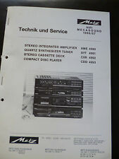 Original Service Manual Metz Hifi Mecasound  AME 4990 SYT 4991 CXR 499 CDD 4993