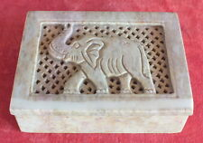 boite à bijoux pierre dure decor elephant jewelry box