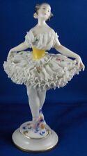 Nice Volkstedt Dresden Porcelain Lace Ballerina Figurine Porzellan Figur Figure
