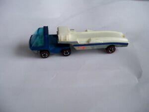 HOTWHEELS REDLINES 1970 HEAVYWEIGHT CAB AND TRAILER- RAMP-WHITE INT.