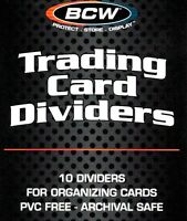 40 BCW Trading Card Dividers for Card Boxes  New Sport Gaming Trading