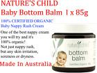 1 x 85g NATURE'S CHILD Bottom Balm 100% CERTIFIED ORGANIC Baby Nappy Rash Cream