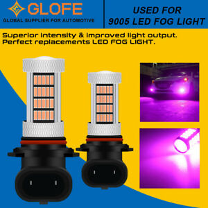 Pink Purple 9140 9145 LED Fog Light DRL for Ford Expedition 00-14 Escape 13-16