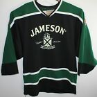 Jameson Irish Whiskey Men's Black/Green L/S Hockey Jersey by K1 Made is USA