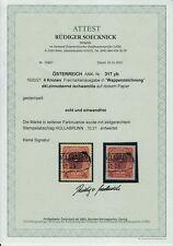 Gestempelte Briefmarken österreichische (1918-1944) mit BPP-Fotoattest