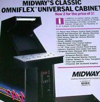 Midway Omniflex Arcade FLYER Original NOS Video Game Cabinet Art Print Sheet