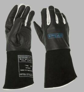 Aktion WELDAS WIG Schweißerhandschuhe Gr. M, L, XL schwarz, Leder 10-1050 Kevlar