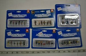 Lot 9-159 * HO Scale 6 x Assorted Pkgs. Walthers Scenemaster Painted Figures