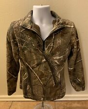 RedHead Camouflage Sweater Jacket Women Size Small 1/2 Half Zip Pullover Hunting