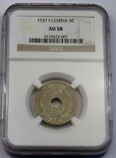 1937-French Indo Cina - 5 centiemes-NGC au58