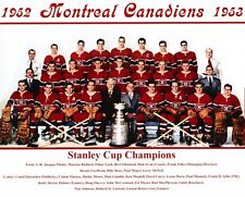 1952 1953 MONTREAL CANADIENS 8X10 TEAM PHOTO HOCKEY NHL STANLEY CUP CHAMPIONS